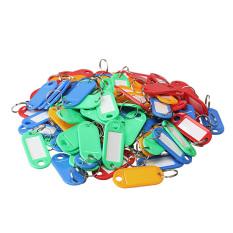 Beli 100 Buah Kunci Tag Id Label Plastik Gantungan Kunci Dengan Gantungan Kunci Pada Label Cincin Belah Not Specified Dengan Harga Terjangkau
