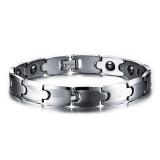 Diskon 100 Tungsten Rantai Gelang Bangle Hematite Magnetic Perawatan Kesehatan Pria Perhiasan Intl Oem