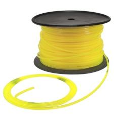 100 M 3mm Kuning Square Kawat Kabel Plastik untuk STIHL Strimmer Pemangkas Kepala Mesin Pemotong Rumput-Internasional
