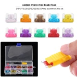 Beli 100Pcs 2A 35A Assortment Low Profile Micro Mini Blade Fuse Set Kit For Car Auto Truck Suv Intl Lengkap