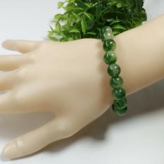 Nanjing khusus batu batu akik gelang spesifikasi 10mm gelang hijau batu akik Perhiasan ulang tahun hadiah