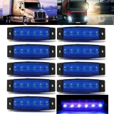 Tips Beli 10 Pcs 12 V 6Led Mobil Truk Trailer Truk Sisi Marker Lampu Indikator Len Sidelamp Baru Biru Internasional Yang Bagus