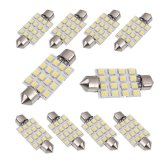 Review Pada 10Pcs 42Mm White 3528 16 Smd Car Led Festoon Dome Map Interior Cargo Light Bulbs 211 578 Intl