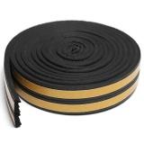 Ulasan 10 Pcs 5 M E Jenis Konsep Diri Perekat Pintu Jendela Excluder Busa Seal Strip Karet Seal Black Intl
