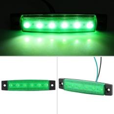 10 Pcs 6 LED 12 V Truk Bus Trailer Sisi Spidol Peringatan Indikator Lampu Terang Tahan