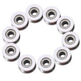 Spesifikasi 10 Pcs V624Zz V Groove Ball Bearing Pulley Untuk Rail Track Linear Motion System 4 13 6Mm Intl Baru