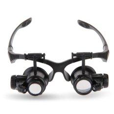 Harga 10 X 15 X 20 X 25 X Mata Kaca Pembesar Pembesar Memimpin Perhiasan Reparasi Kacamata Yg Bagus