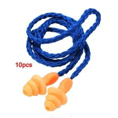 Beli 10X Earplugs With Cord Anti Noise Ear Plug Protection Travel Nyicil