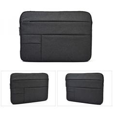 11-12 Inch Nylon Sleeve Case untuk Macbook 12/Acer Chromebook R 11, CB3-131, C720, C720P, C740/HP Stream 11/HP Chromebook 11/ASUS Chromebook C200 C200MA C201 C202SA 11.6 Inch Tas Laptop Case, Hitam-Intl