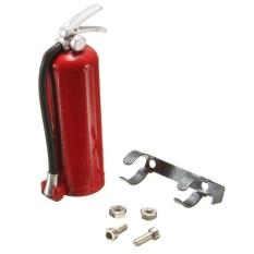 1/10 Aksesoris Skala Pemadam Kebakaran Merah dengan Logam Dudukan Penahan/Hardware-Internasional