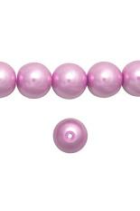 110 Pcs Round Glass Pearl Spacer Beads 8X8x8mm Bubuk Pink