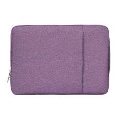 11.6 Inch Universal Fashion Lembut Laptop Tas Denim Portable Zipper Notebook Laptop Case Pouch untuk MacBook Air, lenovo dan Laptop Lainnya, Ukuran: 32.2X21.8X2 Cm (ungu)-Intl