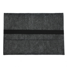 Kualitas 11Inch Felt Laptop Sleeve Case Protect Cover Bag For Apple Macbook Pro Air Retina Dark Gray Oem