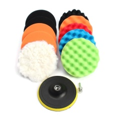Review Tentang 11 Pcs 3 5 6 7 Wafel Penyangga Senyawa Waxing Polishing Roda Alat Sponge Pad Bor Adaptor Kit Set Untuk Mobil Otomatis Polisher Pembersih Cuci Kendaraan Intl