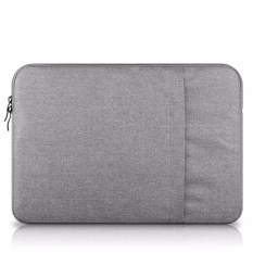 12-inch Shockproof Perlindungan Maksimal Notebook Bag Komputer untuk Macbook, Portable Laptop Casing Set Laptop Tas Laptop (Abu-abu Terang)-Intl