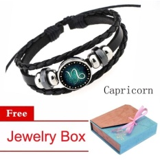 Harga 12 Zodiac Signs Capricorn Charm Bracelet Beaded Braceletmulti Layers Leather Friendship Couple Bangle Constellationbracelet Intl Oem Ori