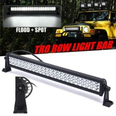 12/22 Inch TRI-ROW LED Work Light Bar Offroad Flood Spot Combo Lamp Car Headlight Bulbs Super Bright Car Front Lamp For Truck