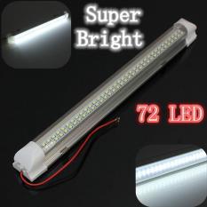 12 V 2.5 W 72 LED Auto Mobil Van Caravan Light Bar Lamp With ON/