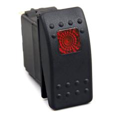12 V 20A 24 V 10A Merah Lampu LED Saklar Rocker Tahan Air 3 Pin untuk Mobil Perahu
