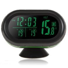 Jual Beli 12 V 24 V Auto Led Display Thermometer Tegangan Meter Freeze Alert Noctilucous Clock Intl