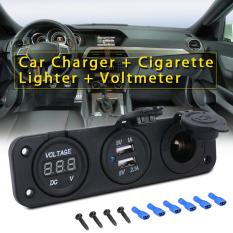 12 V 24 V Mobil Ganda Charger Usb Adaptor Daya Pemantik Api Pengukur Tegangan Volt Ma373 International Xcsource Diskon 50