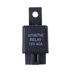 12 V 40A Car Automotive Relay 4 Pin SPST Alarm Relay dengan Relay Soket-Internasional