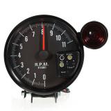 Spek 12 V 5 Adjustable 7 Warna Led Tachometer Gauge 11 K Rpm Tach Meter Shift Lampu Intl Oem