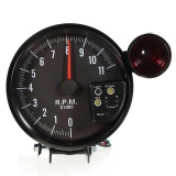 Spesifikasi 12 V 5 Adjustable 7 Warna Led Tachometer Gauge 11 K Rpm Tach Meter Shift Light Yg Baik