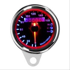 12 V DC Dual LED Backlight Malam Motor Speedometer Odometer Dibaca Kecepatan Alat Ukur Motorbike Instrumen untuk Harley Silver-Intl