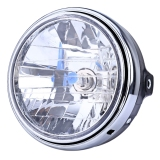 Jual 12V Motorcycle Crystal Round Headlight Modified Headlamp Assembly For Honda Bumblebee Cb400 900 Silver Baru