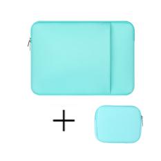 13 Inch Laptop Sleeve Case Notebook Bag Untuk Macbook Air Notebook Tablet Kecil Power Tas Hijau Murah