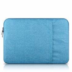 13-inch Shockproof Perlindungan Maksimal Notebook Bag Komputer untuk Macbook, HP, Portable Laptop Casing Set Laptop Laptop Bag (biru Muda)-Intl