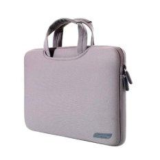 13.3 Inch Portable Udara Permeabel Handheld Lengan Casing untuk Mac Book Air/Pro, Lenovo dan Laptop Lain, Ukuran: 34X25.5x2.5 Cm (abu-abu)-Intl