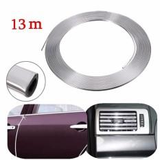 Beli 13 M Silver Chrome Eksterior Mobil Styling Moulding Strip Mobil Perekat Tubuh Lis Internasional Cicilan