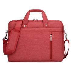 Toko 14 Inch Laptop Shoulder Messenger Bag Waterproof Nylon Gaya Untuk 14 1 Inch Laptop Merah Ekspor Online Tiongkok