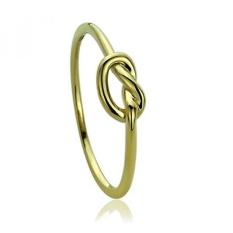 14 K Kuning Emas Cincin Kawin Cincin Emas Polos Celtic Love Knot Janji Cincin, 6-Intl