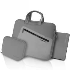 Beli 15 Inch Laptop Shoulder Messenger Bag Nylon Gaya 3 In 1 Gray Di Tiongkok