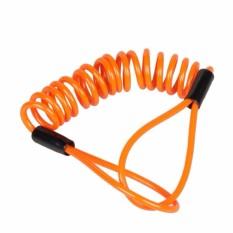 150 Cm Alarm Cakram Keamanan Mengunci Anti Pencurian Tas Sepeda Motor Roda Cakram Rem dan Musim Semi Pengingat Oranye Kabel-Internasional