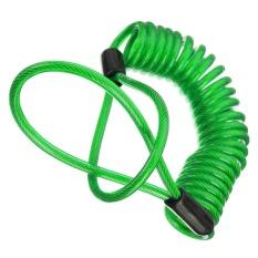150 Cm Alarm Disc Kunci Keamanan Anti Pencuri Tas Roda Sepeda Motor Disc Brake dan Spring Pengingat Green Kabel-Intl