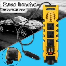 150 W DC12V Ke AC 110 V Mobil Kendaraan Power Inverter Converter Dual USB Port Charger Kuning-Intl