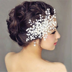15 Cm Mutiara Kristal Berlian Imitasi Pengantin Pesta Prom Harga Sisir Rambut Klip-Internasional