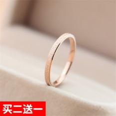 18 K Korea Modis Gaya Perempuan Titanium Baja Emas Mawar Cincin Kelingking Permukaan Halus CincinIDR43600. Rp 43.600