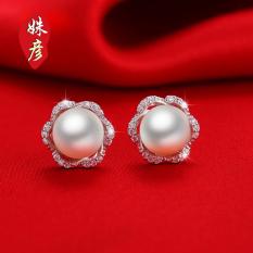18 K Korea Fashion Style Elegan Wanita Perak Emas Putih Anting