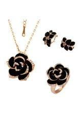 18 Karat Putih Berlapis Emas Multi Kristal Berwarna Merah Muda Bunga Bros Wanita Fashion Perhiasan