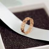 Review Pada 18 K J058 Korea Fashion Style Titanium Baja Naik Berlapis Emas Cincin Ekor Cincin
