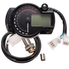 Beli 182 Universal Tachometer Lcd Digital Motor Speedometer Odometer Gauge Dhs Intl Terbaru