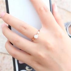 18K Jepang dan Korea Selatan perempuan titanium baja berlapis cincin berlian cincin OT571OTAATVDTIANID-67397001 Taobao