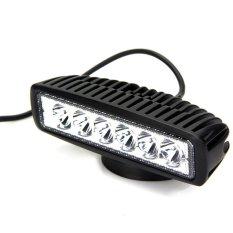18 W Banjir LED Work Light Bar Lampu Mengemudi Kabut Offroad SUV 4Wd Mobil Truk (Putih)