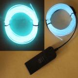 Review 1 M El Kawat Tali Tabung Lampu Neon Glow Kontroler Mobil Dekorasi Pesta Ice Blue Internasional Tiongkok
