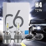 Beli 1Pair H4 72W 7600Lm Led Light Headlight Kit Car Conversion Bulb Kit Intl Online Murah